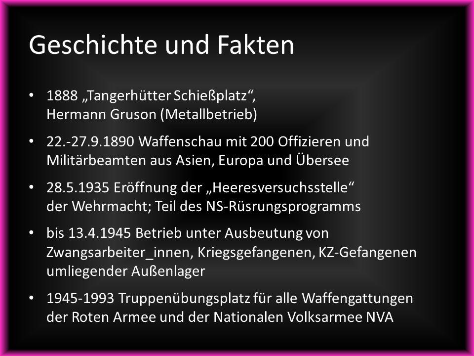 """1888 """"Tangerhütter Schießplatz"""", Hermann Gruson (Metallbetrieb) 22.-27.9.1890 Waffenschau mit 200 Offizieren und Militärbeamten aus Asien, Europa und"""