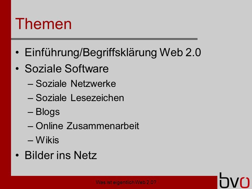Was ist eigentlich Web 2.0.