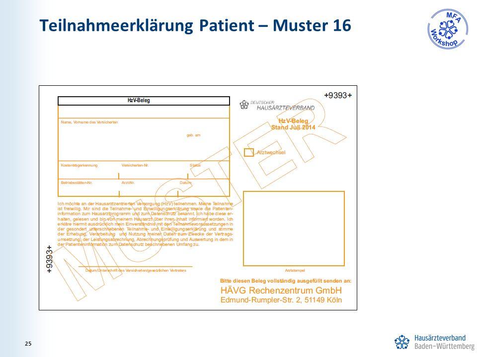 Teilnahmeerklärung Patient – Muster 16 25