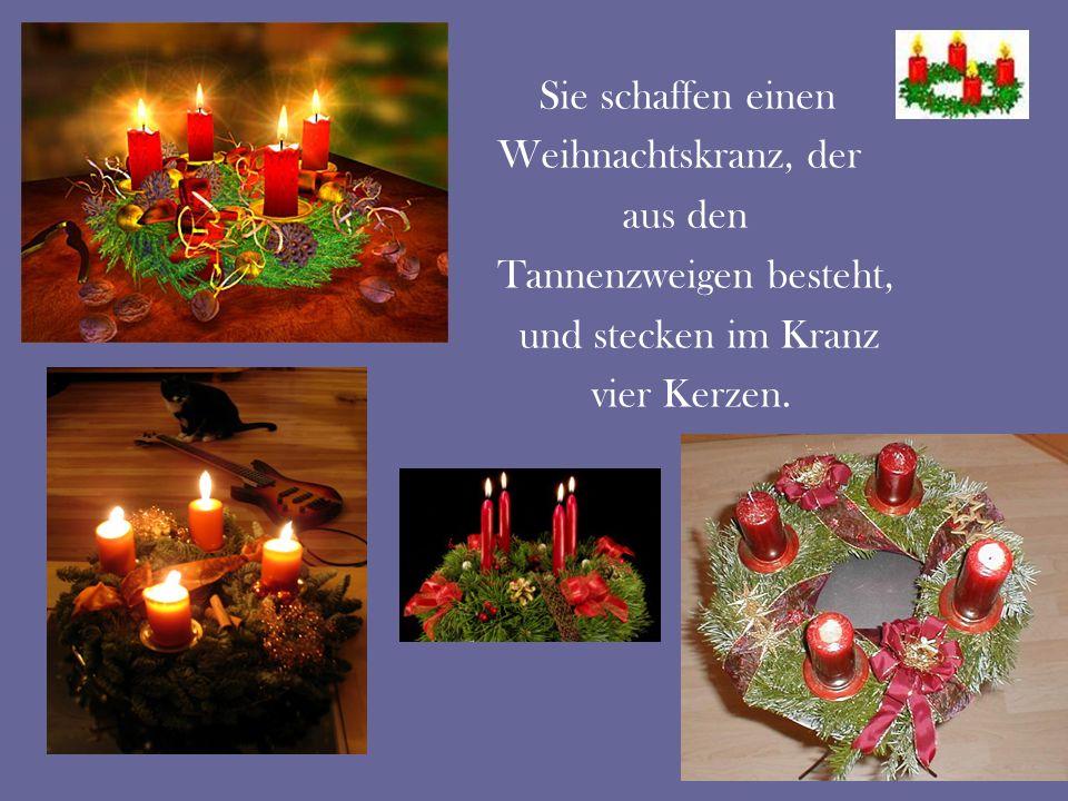 An jedem Adventssonntag wird eine Kerze angezündet.