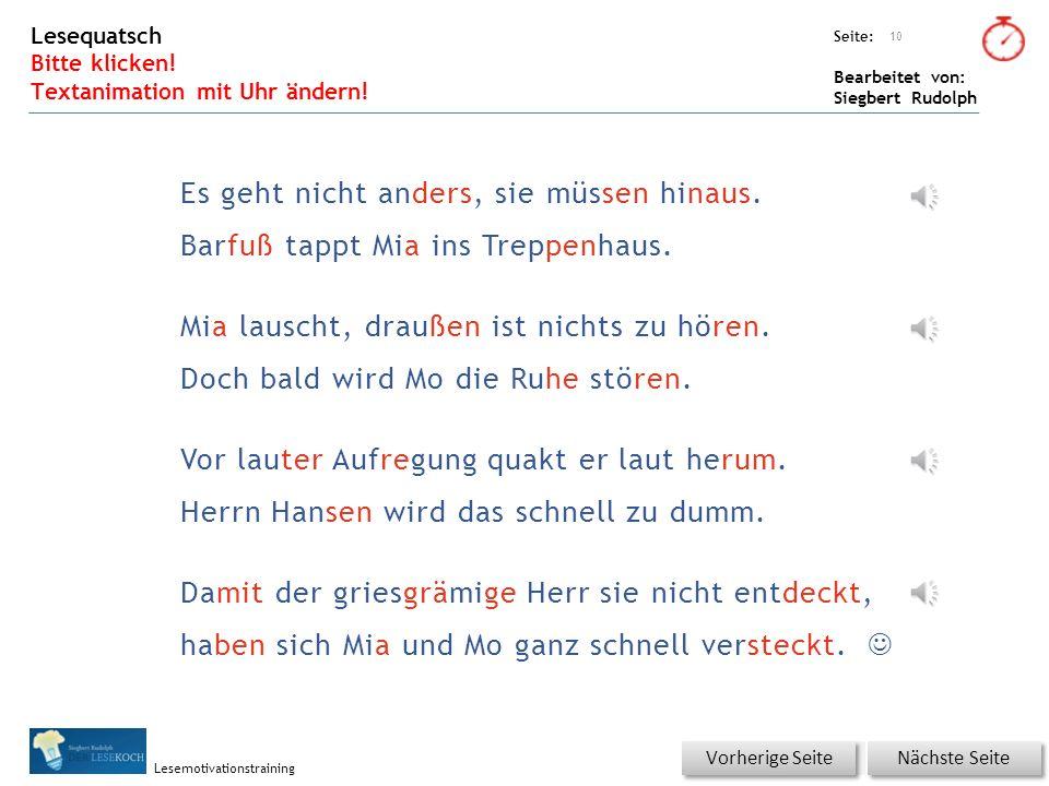 Übungsart: Seite: Bearbeitet von: Siegbert Rudolph Lesemotivationstraining 9 Du bist der Lehrer – korrigiere die Fehler.