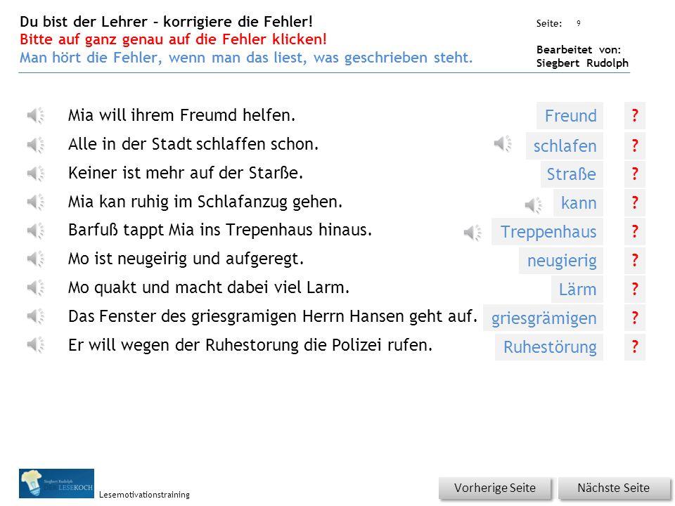 Übungsart: Seite: Bearbeitet von: Siegbert Rudolph Lesemotivationstraining 8 Silbenhammer Bitte klicken.