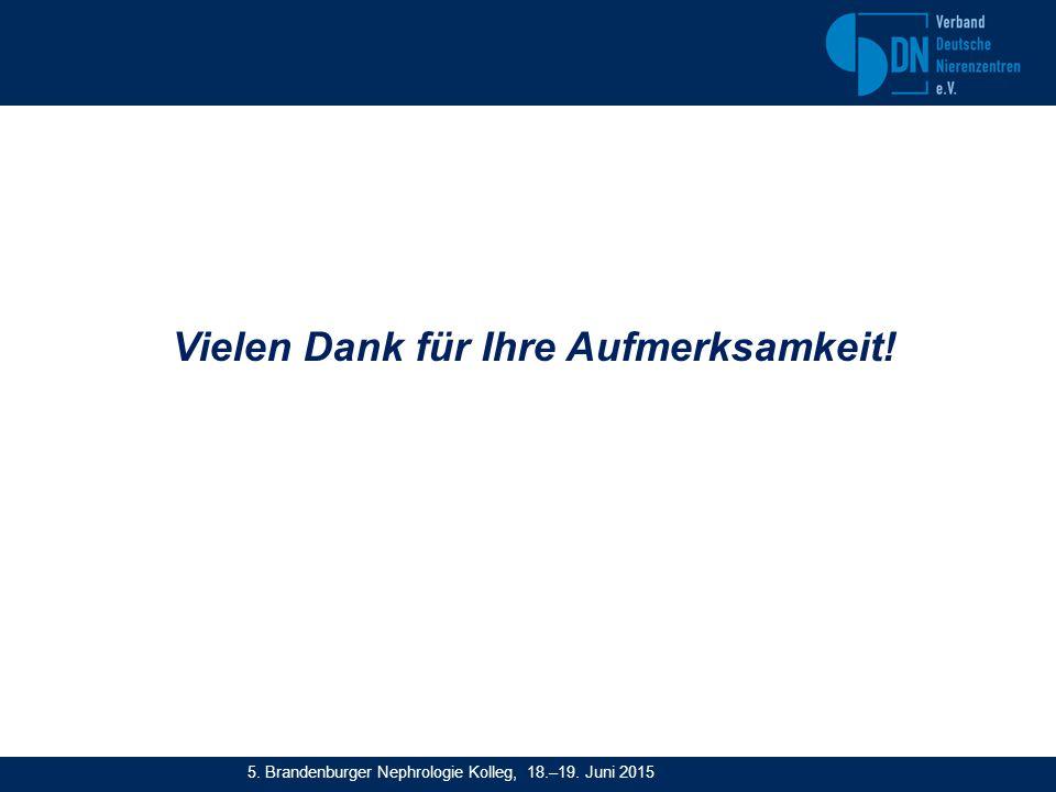 Vielen Dank für Ihre Aufmerksamkeit! 5. Brandenburger Nephrologie Kolleg, 18.–19. Juni 2015
