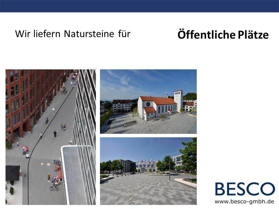 Wir liefern Natursteine für Fußgängerzonen