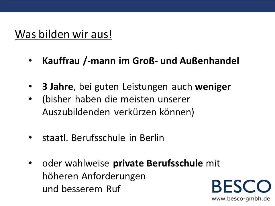 Warum bei Besco- GmbH.