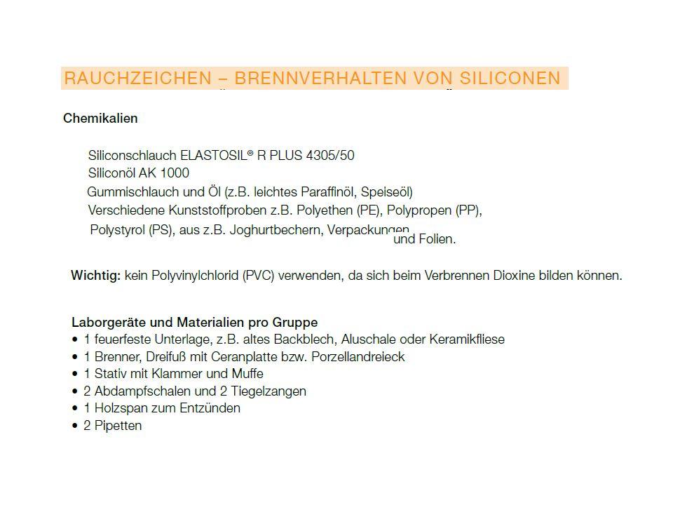 Stellung von Silicium im Periodensystem In der 14.