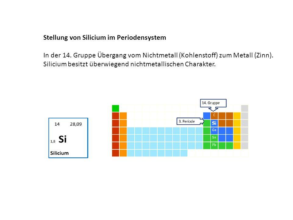 Silicium ist das zweithäufigste Metall in der Erdkruste.