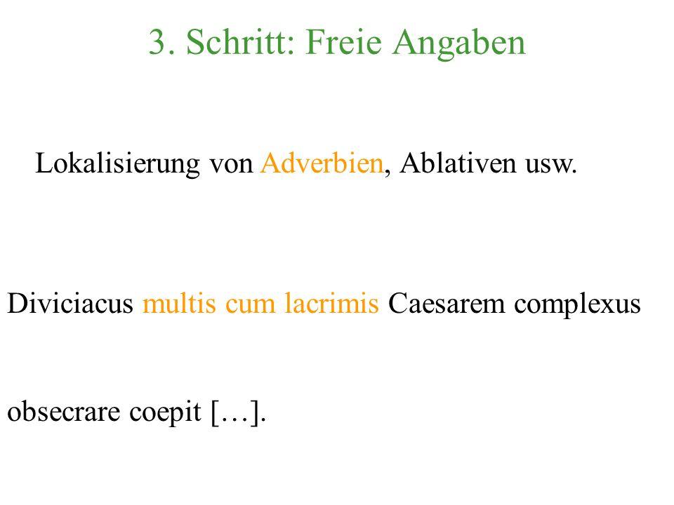 Übersetzung der notwendigen Satzglieder: [...] den Caesar [...] zu beschwören [...]