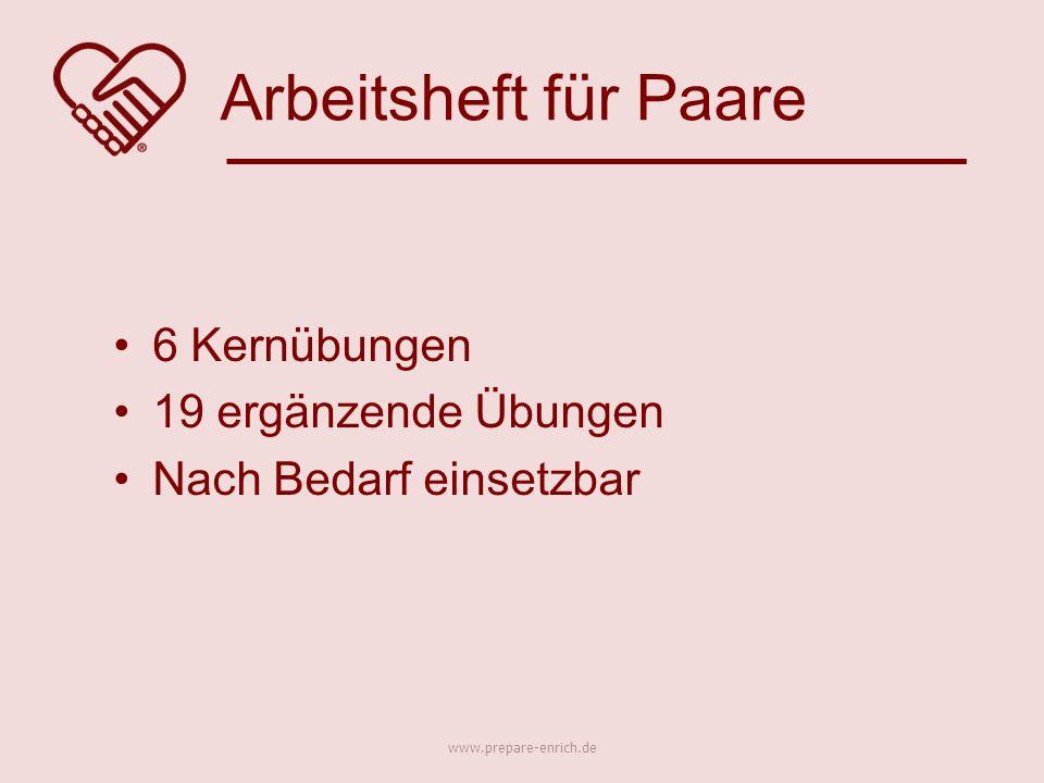 6 Kernübungen 19 ergänzende Übungen Nach Bedarf einsetzbar Arbeitsheft für Paare www.prepare-enrich.de
