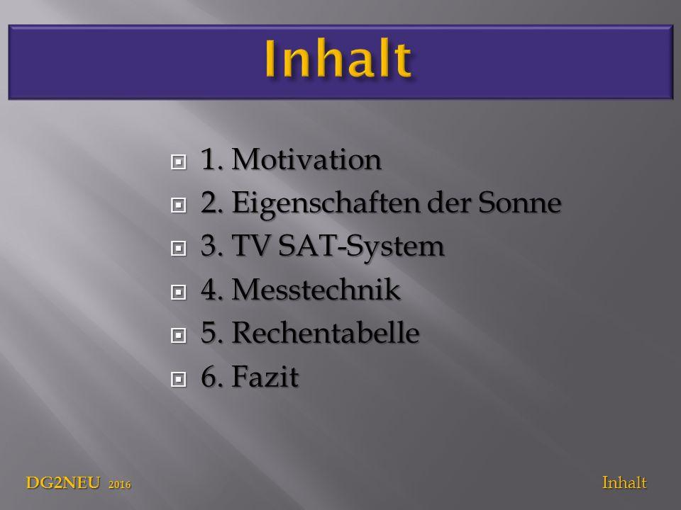  1. Motivation  2. Eigenschaften der Sonne  3.