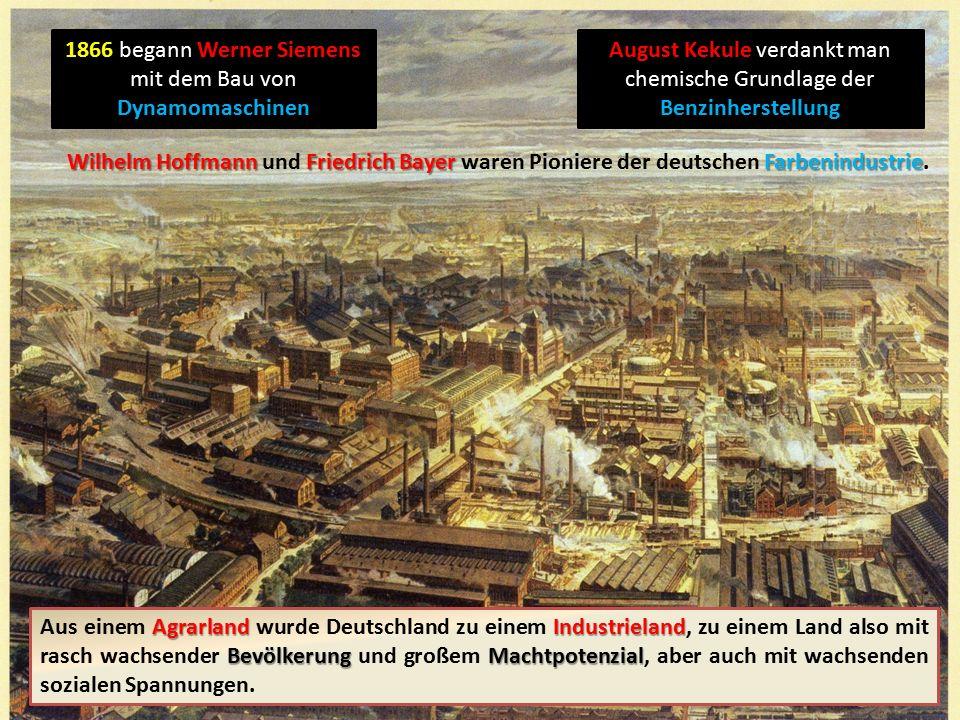 AgrarlandIndustrieland BevölkerungMachtpotenzial Aus einem Agrarland wurde Deutschland zu einem Industrieland, zu einem Land also mit rasch wachsender
