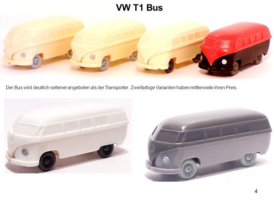 VW T1 Bus Der Bus wird deutlich seltener angeboten als der Transporter. Zweifarbige Varianten haben mittlerweile ihren Preis. 4