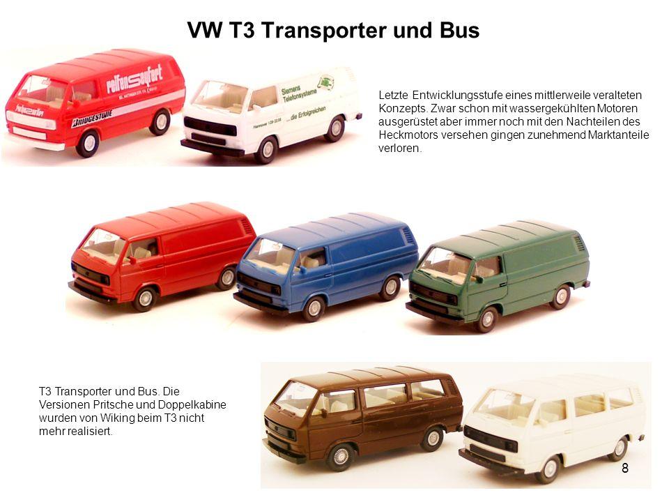 VW T3 Transporter und Bus Letzte Entwicklungsstufe eines mittlerweile veralteten Konzepts. Zwar schon mit wassergekühlten Motoren ausgerüstet aber imm