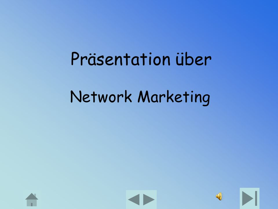 Präsentation über Network Marketing