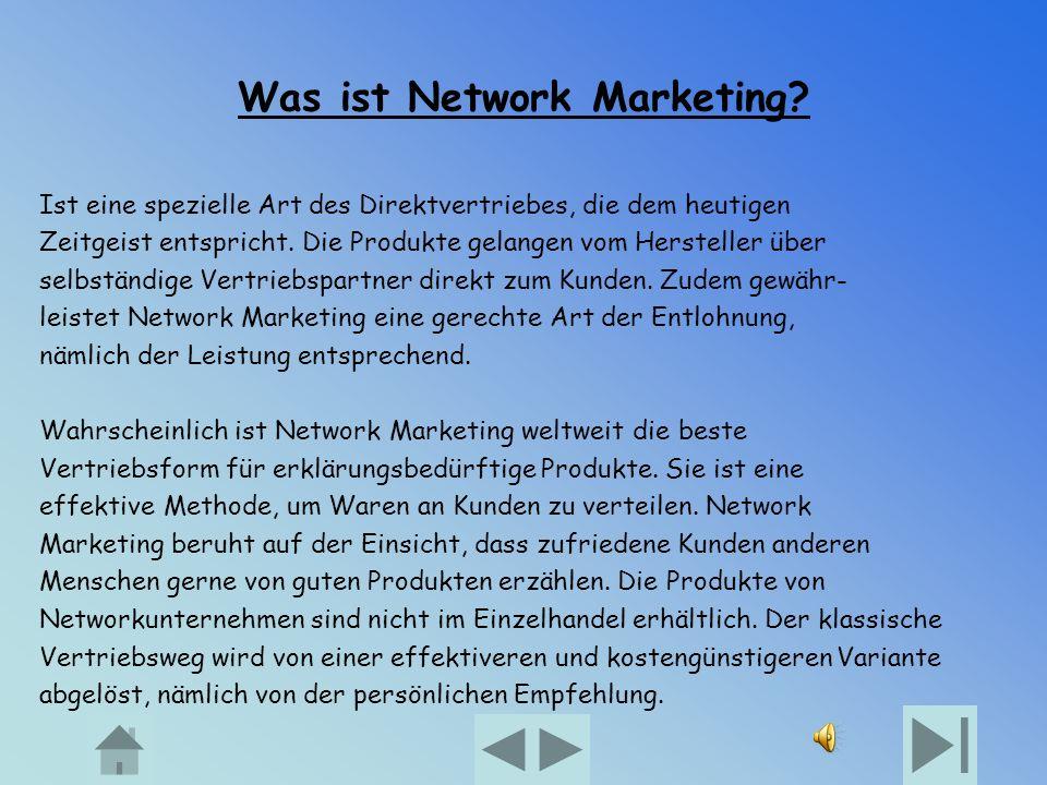 Was ist Network Marketing.