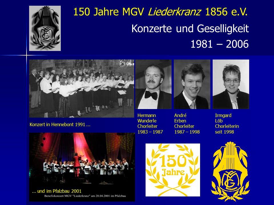 150 Jahre MGV Liederkranz 1856 e.V.