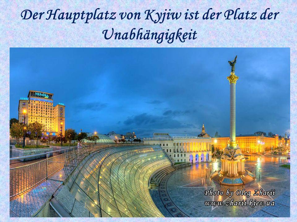 Der Hauptplatz von Kyjiw ist der Platz der Unabhängigkeit