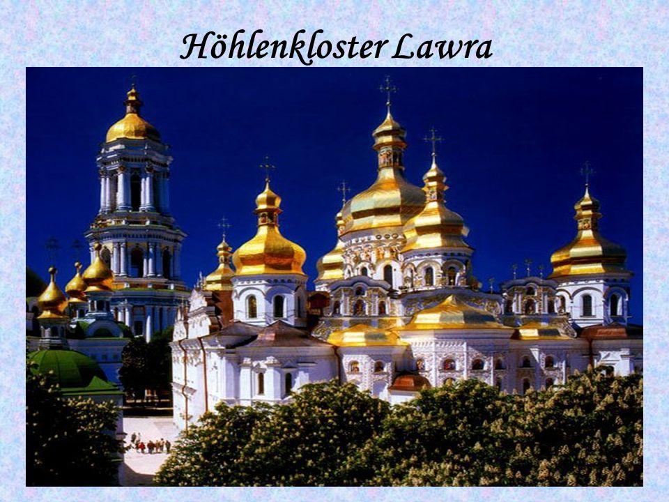 Das Höhlenkloster Lawra ist das bekannteste Wahrzeichen von Kiew.