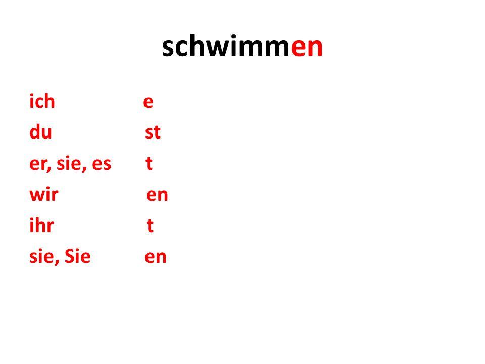 Verben mit Stammvokalwechsel im Präsens konjugieren