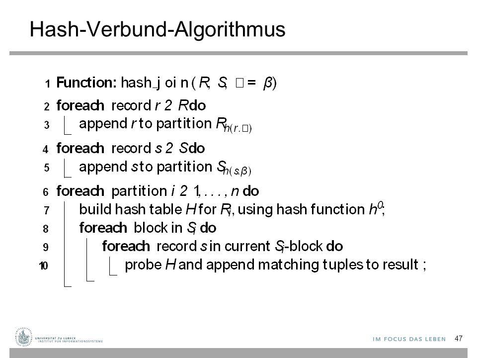 Hash-Verbund-Algorithmus 47
