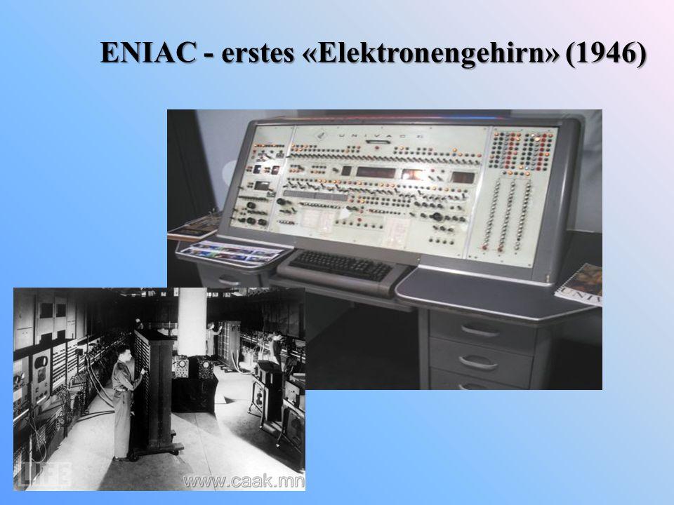 ENIAC - erstes «Elektronengehirn» (1946)