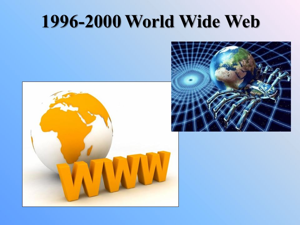 1996-2000 World Wide Web