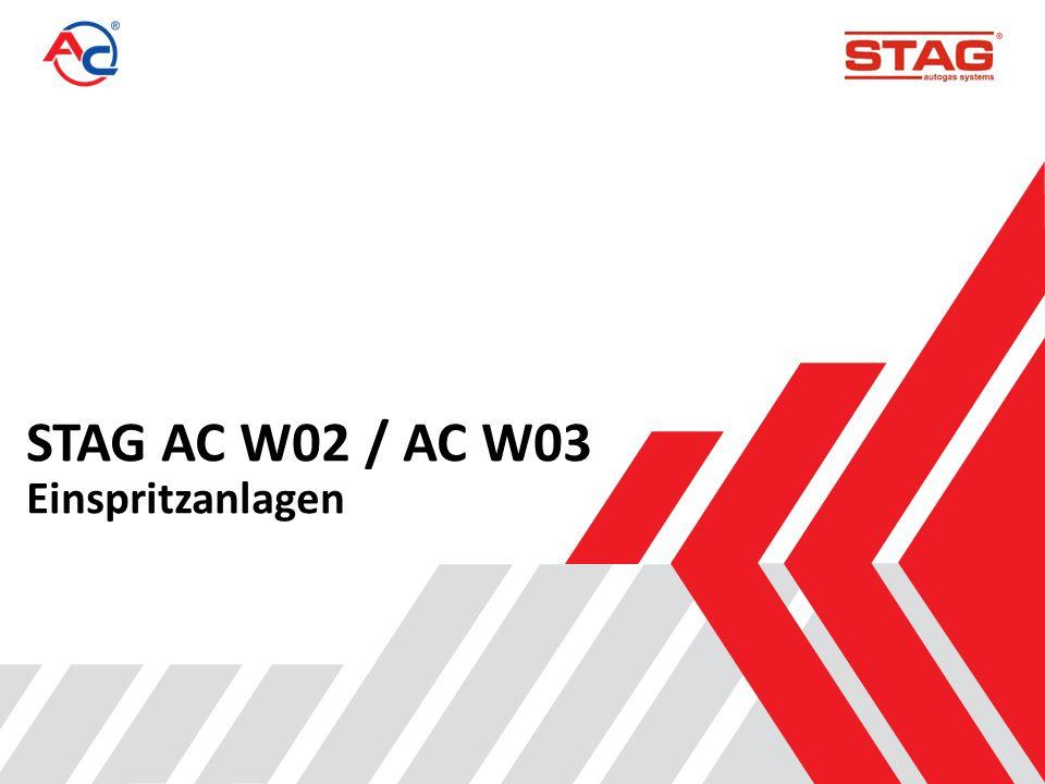 Parameter von Einspritzanlagen der Konkurrenten Einspritzanlage *T_on (ms) *T_off (ms) Q_max (l/min) Bauweise STAG AC W02/03 1,91,0125 Kolben BARACUDA 21,2125 Kolben HANA GREN 2,11,2115 Kolben AC W01 2,41,4125 Kolben DRAGON 2,11,1130 Kolben OMVL 2,22,590 Kolben VALTEC 2,92,1120 Kolben TOMASETTO 3,12,190 Kolben *Je niedriger die Werte für die Ein- und Ausschaltzeiten (t_on bzw.