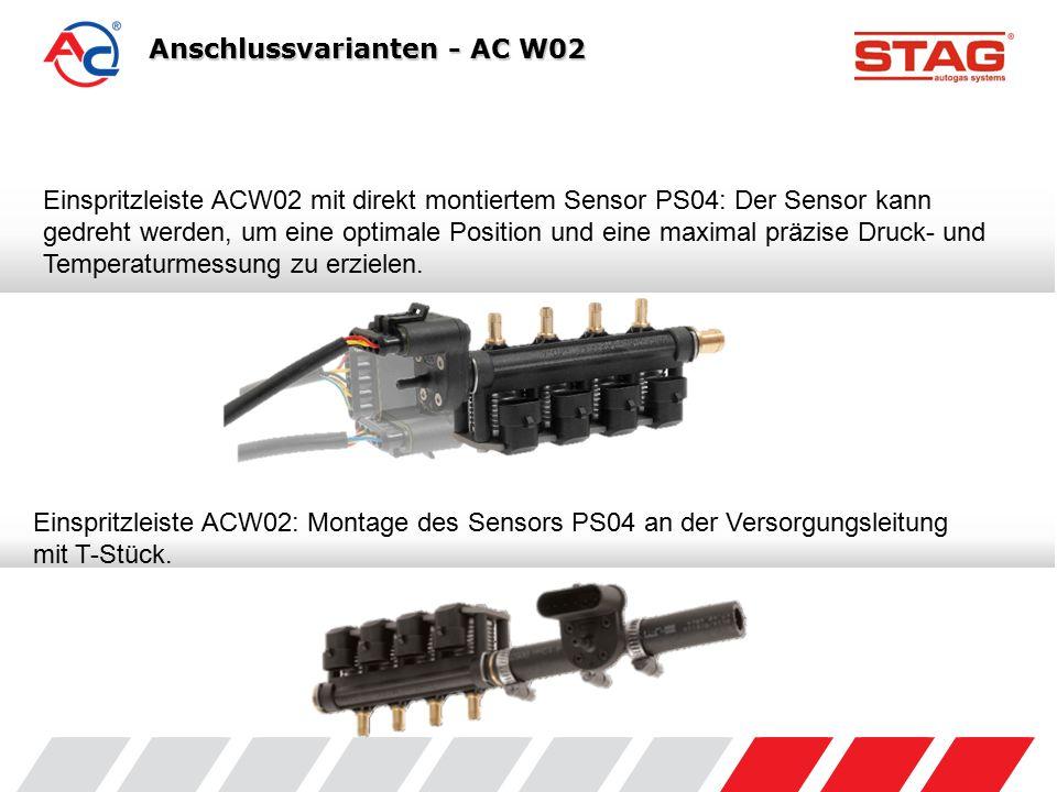 Anschluss mit T-Stücken Ø 12mm + PS04 Anschlussvarianten - AC W03