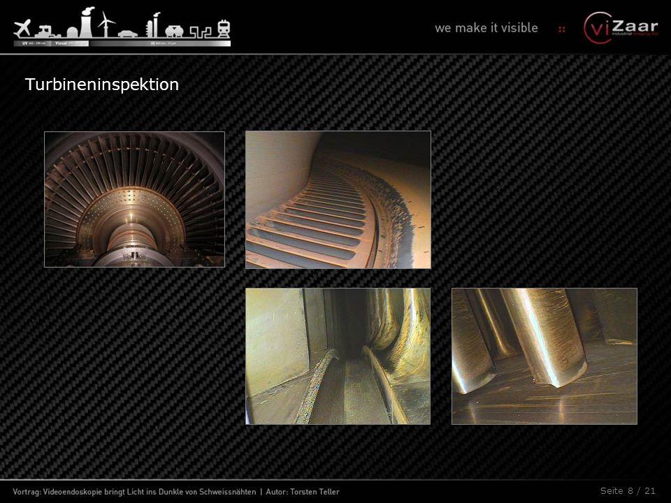 Seite 9 / 21 Fremdteilebergung in Turbinen, Rohrleitungen und Industrieanlagen