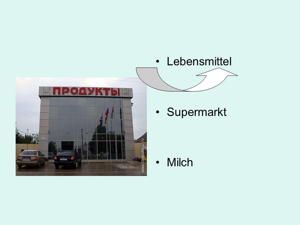 Lebensmittel Supermarkt Milch