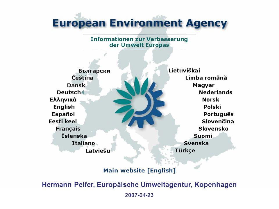 Hermann Peifer, Europäische Umweltagentur, Kopenhagen 2007-04-23