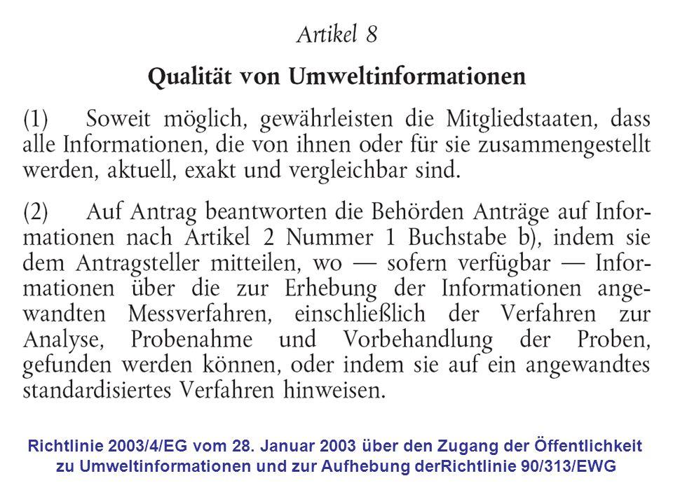 Richtlinie 2003/4/EG vom 28.