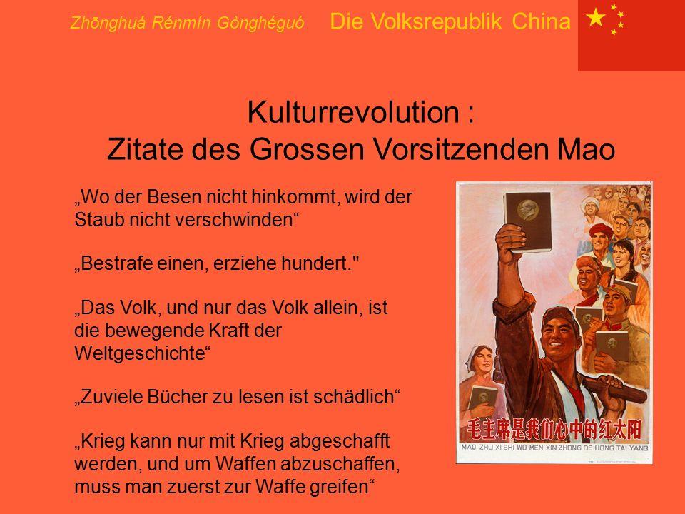 """Zhōnghuá Rénmín Gònghéguó Die Volksrepublik China Kulturrevolution : Zitate des Grossen Vorsitzenden Mao """"Wo der Besen nicht hinkommt, wird der Staub"""
