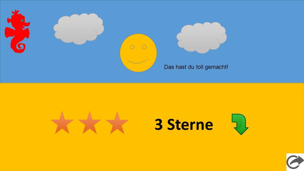 3 Sterne Das hast du toll gemacht!