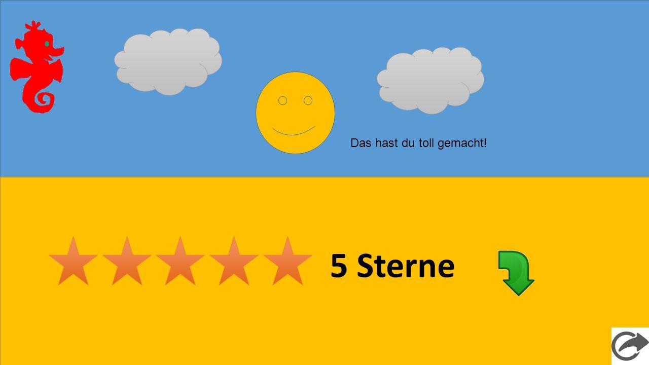 5 Sterne Das hast du toll gemacht!