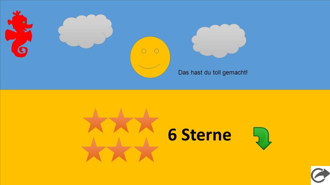 6 Sterne Das hast du toll gemacht!
