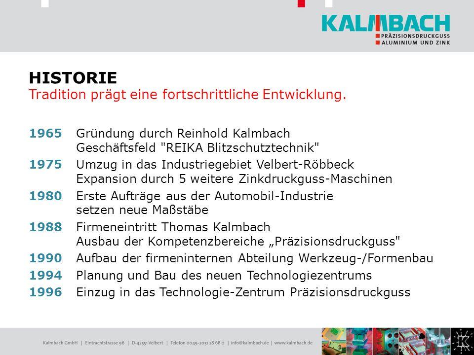 1965 Gründung durch Reinhold Kalmbach Geschäftsfeld