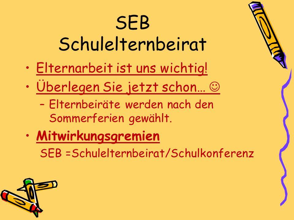 SEB Schulelternbeirat Elternarbeit ist uns wichtig.