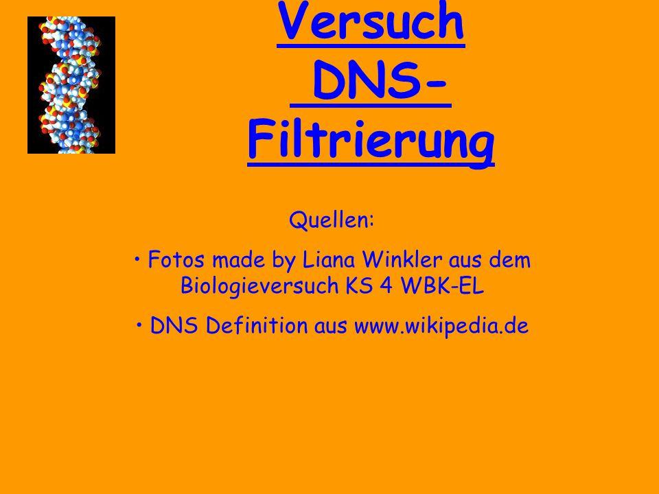 Versuch DNS- Filtrierung Danke