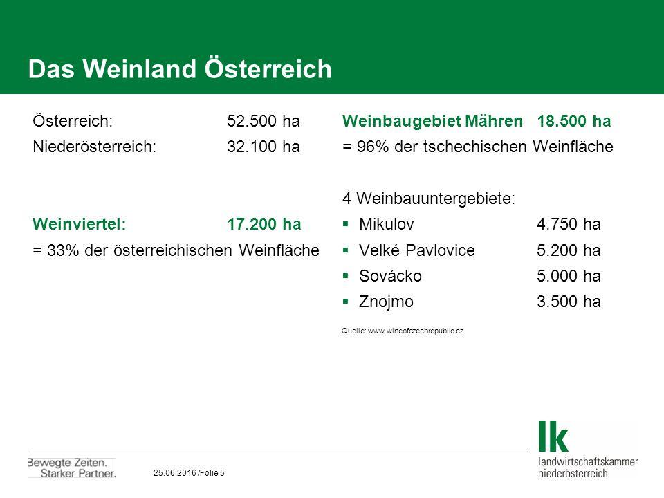 25.06.2016 /Folie 6 Das Weinland Österreich