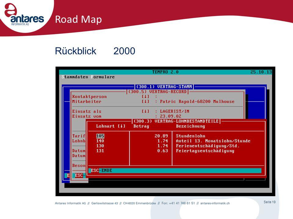 Seite 19 Road Map Rückblick2000