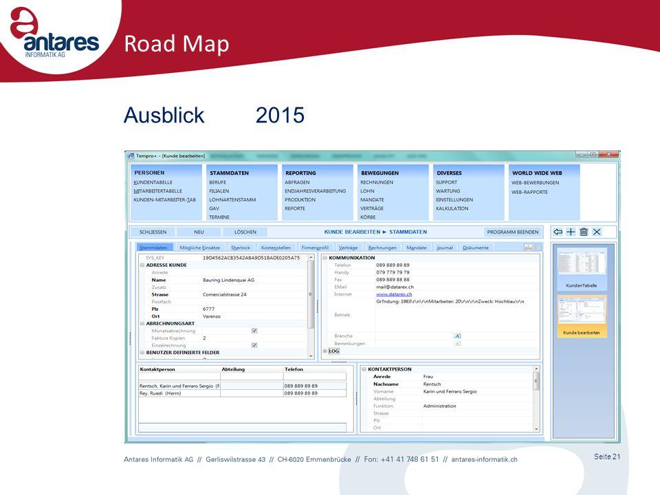 Seite 21 Road Map Ausblick2015
