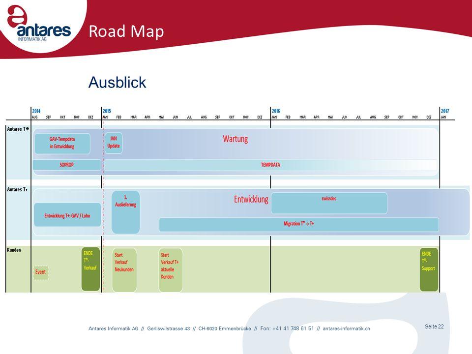 Seite 22 Road Map Ausblick