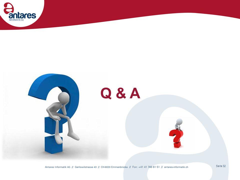 Q & A Seite 32