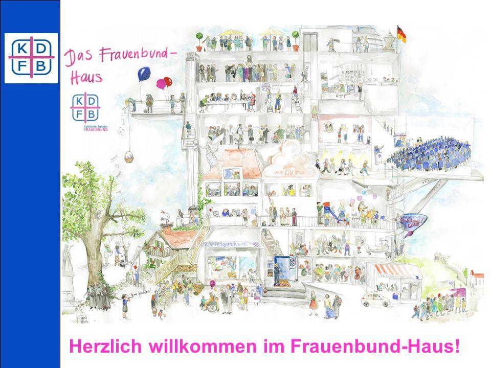 Ein Bild sagt mehr als 1.000 Worte! Das Frauenbund-Haus – Ein lebendiges Organigramm.