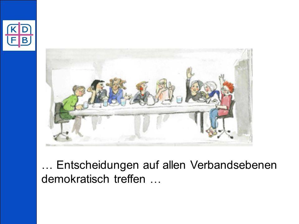 … Entscheidungen auf allen Verbandsebenen demokratisch treffen …