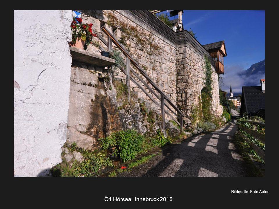 Bildquelle: Foto Autor Ö1 Hörsaal Innsbruck 2015