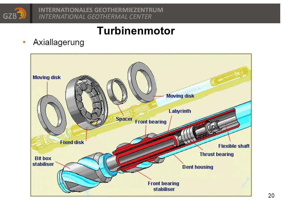 Axiallagerung 20 Turbinenmotor