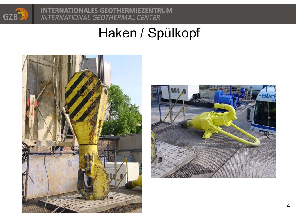 4 Haken / Spülkopf