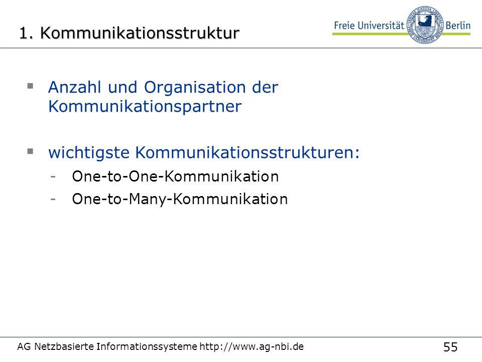 55 AG Netzbasierte Informationssysteme http://www.ag-nbi.de 1.